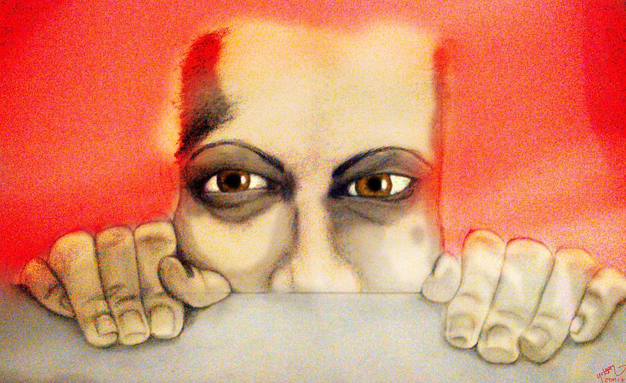 God Digital Art - Fear by Yvonne Lopez