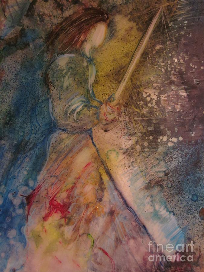 Sword Painting - Fearless by Deborah Nell