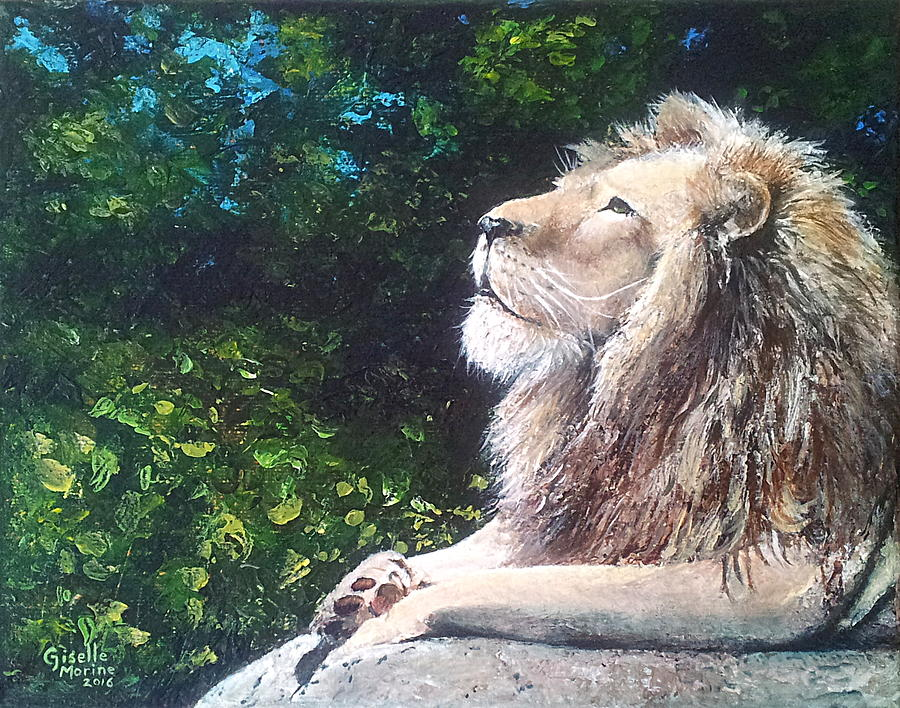 Lion Painting - Fearless by Studio Giselle