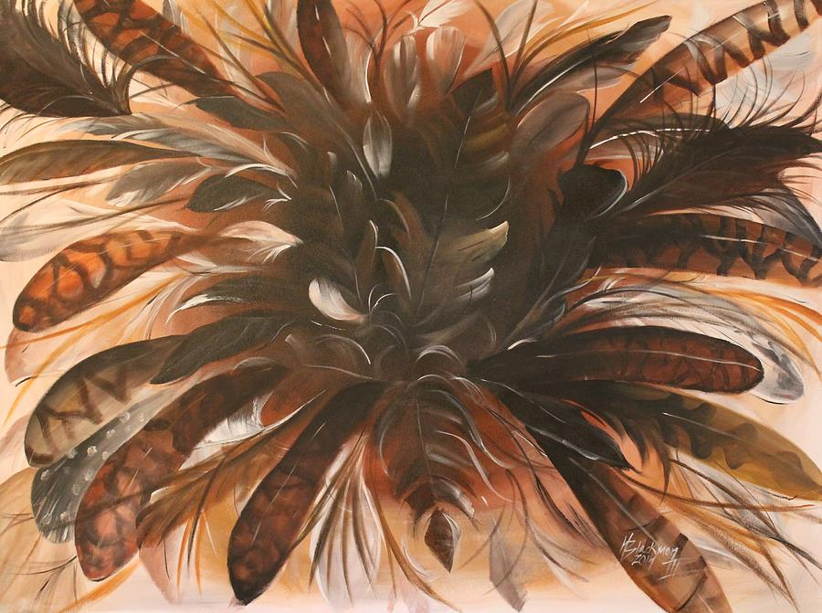 Nature Painting - Feather Bloom by Henry Blackmon