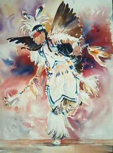 Indian Painting - Feather Dance by H Lee Shapiro