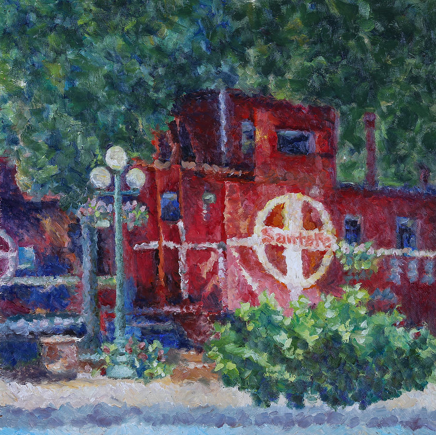 Caboose Painting - Featherbed Railroad Caboose by Joe  Geare
