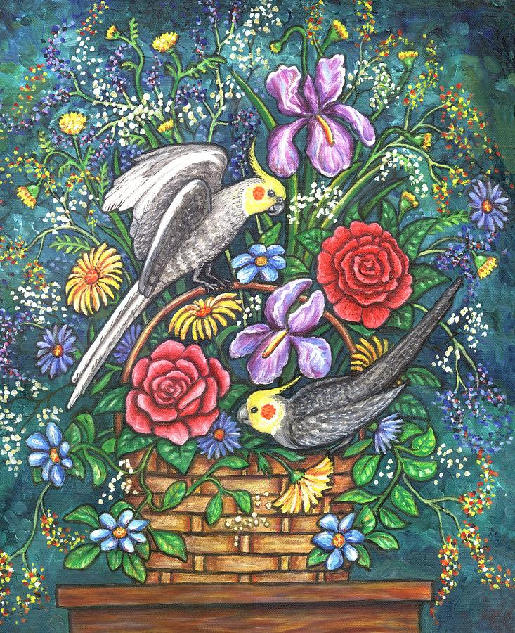Birds Painting - Feathered Frolic by Linda Mears
