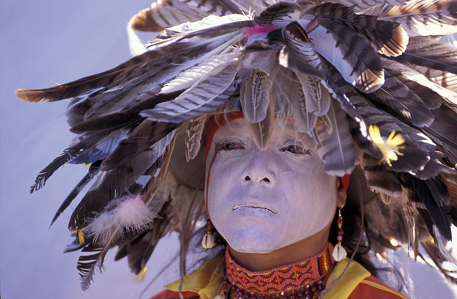 Indian Photograph - Feathers by Christian Heeb