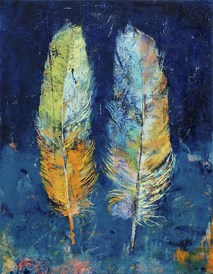 Abstract Painting - Feathers by Michael Creese
