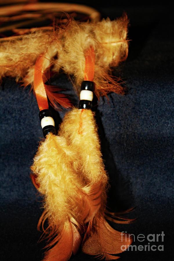Dreamcatcher Photograph - Feathers Of A Dreamcatcher by Don Baker