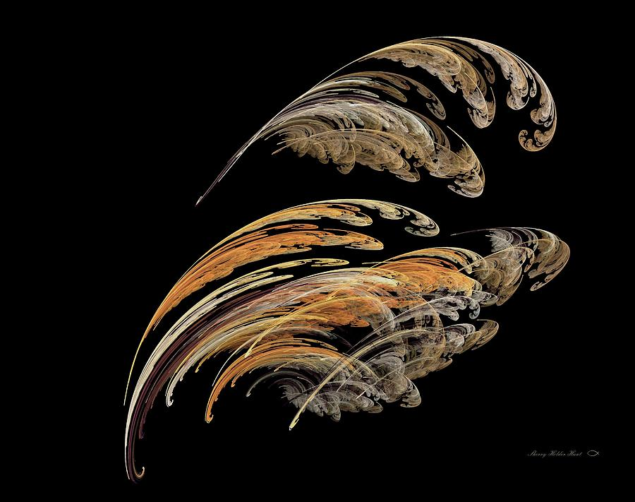 Abstract Digital Art - Feathers by Sherry Holder Hunt