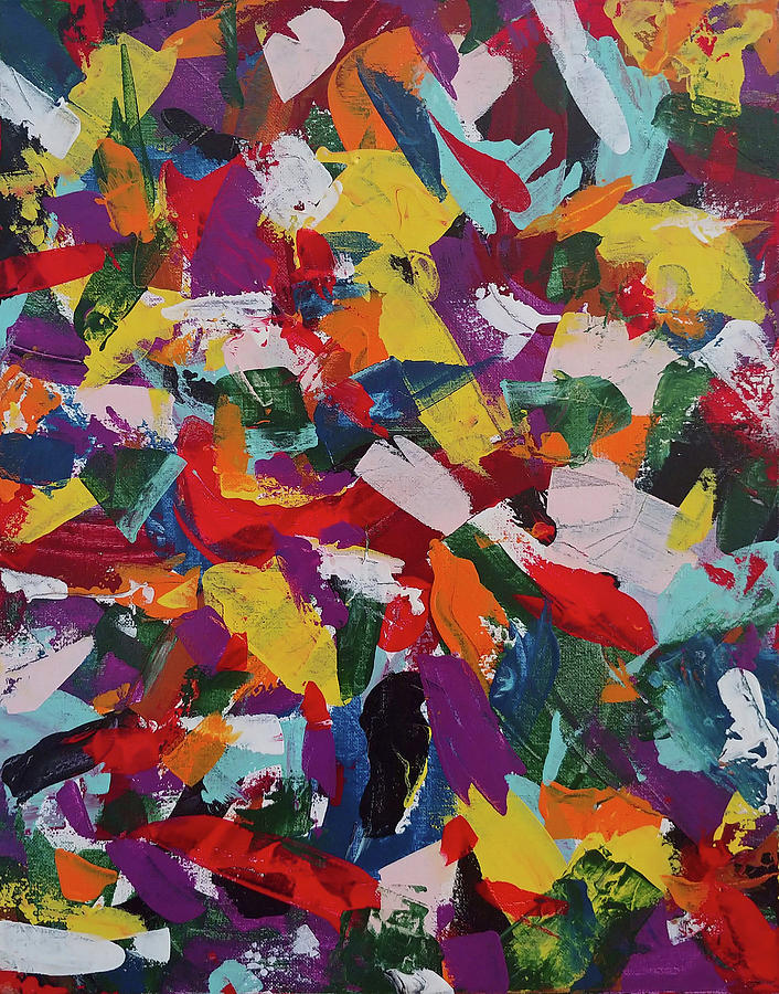 Abstract Painting Painting - Feathers by Trisha Pena