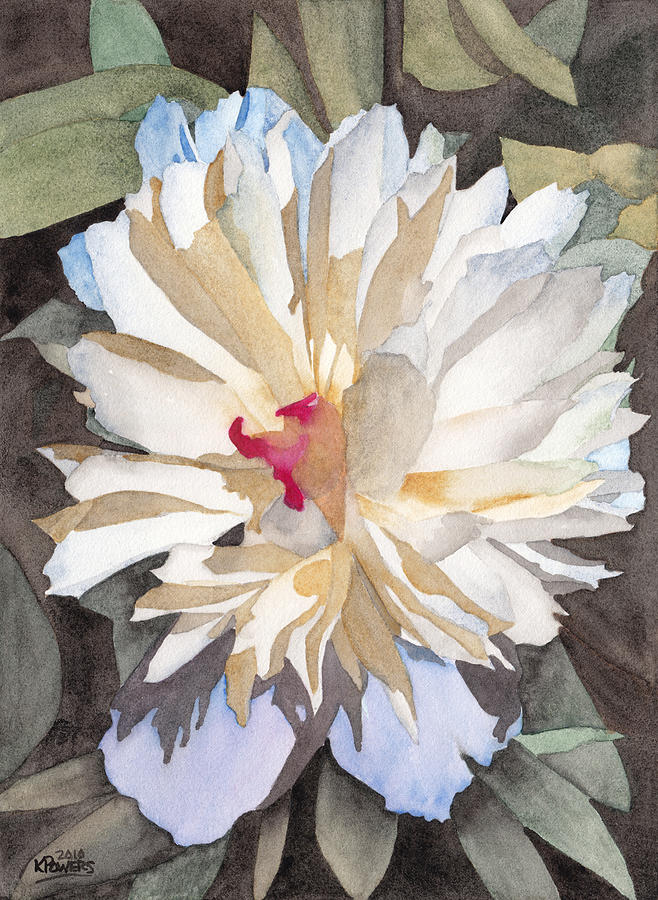 Watercolor Painting - Feathery Flower by Ken Powers
