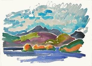 February Balch Islands  Painting by Alfred Muma