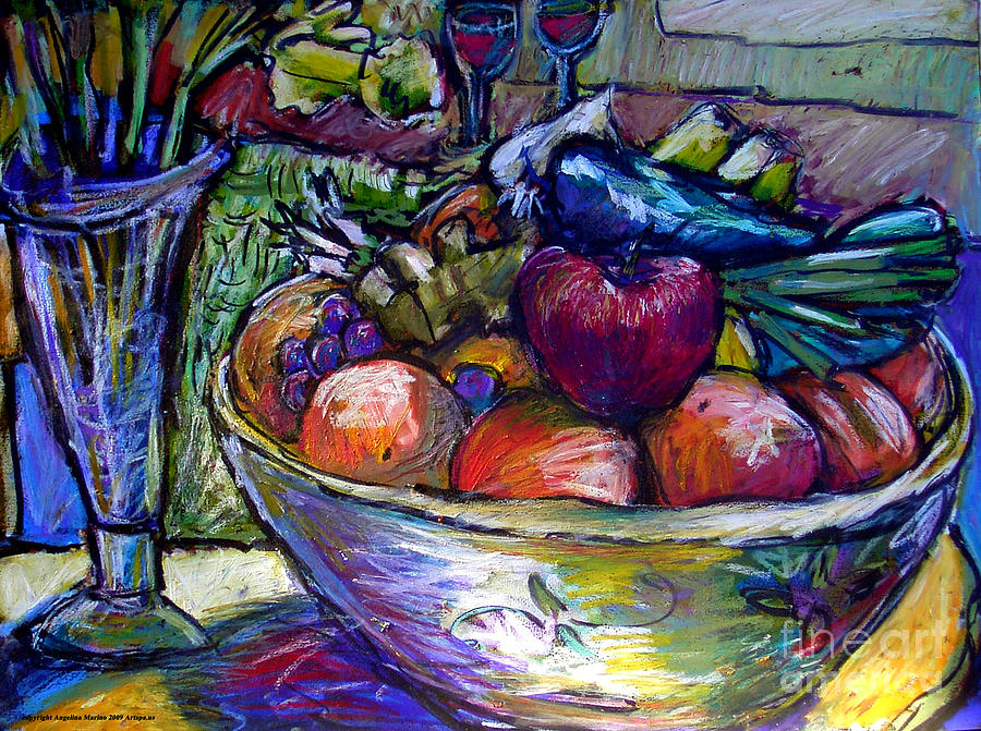 Still Life Painting - February Still Life In Angelinas Kitchen 3 by Angelina Marino