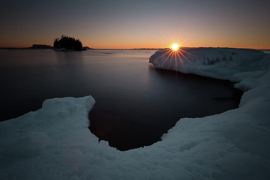 Bay Photograph - February Sunrise In Sturgeon Bay by Jakub Sisak