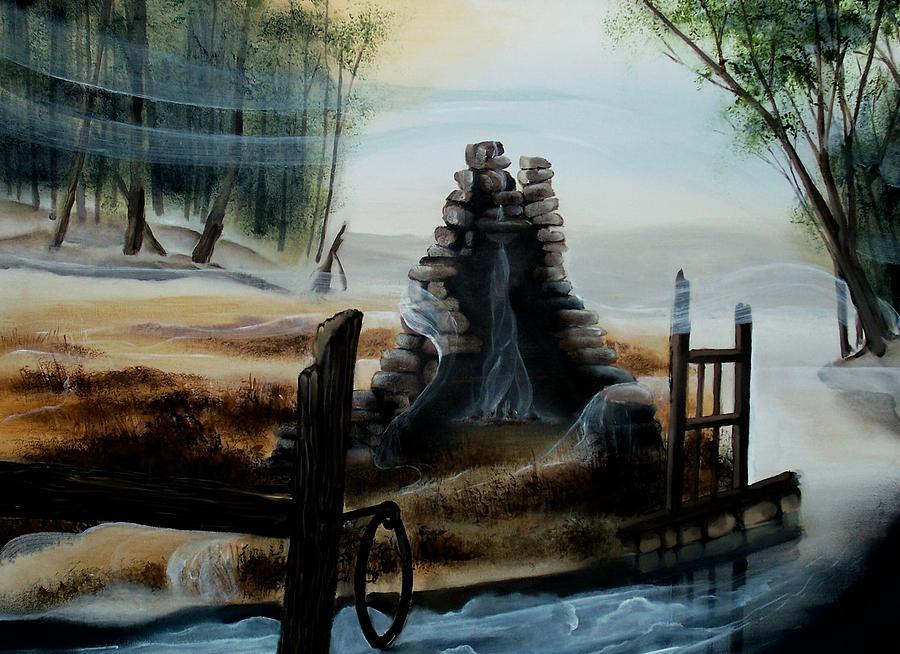 Acrylic Painting - February Thaw by Kathleen Romana