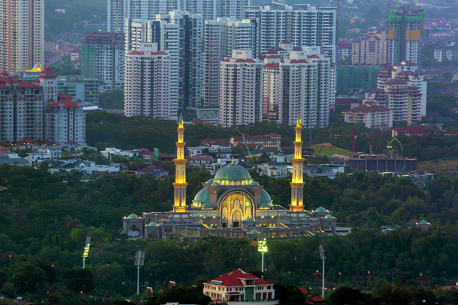 Malaysia Photograph - Federal Territory Mosque by David Gn