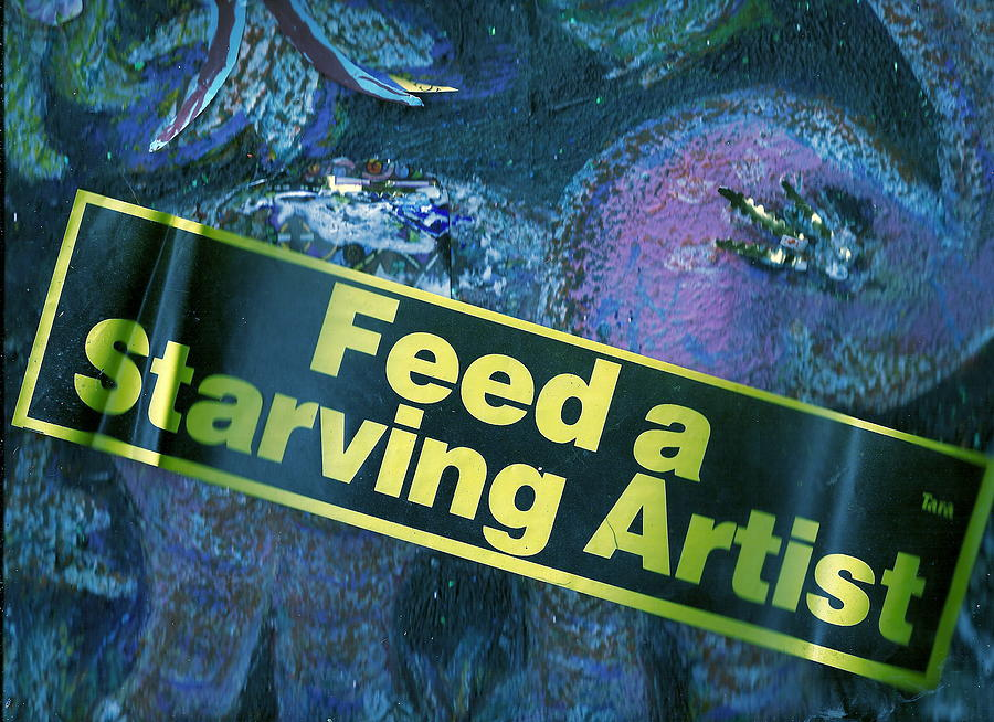 Feed Mixed Media - Feed A Starving Artist by Anne-Elizabeth Whiteway