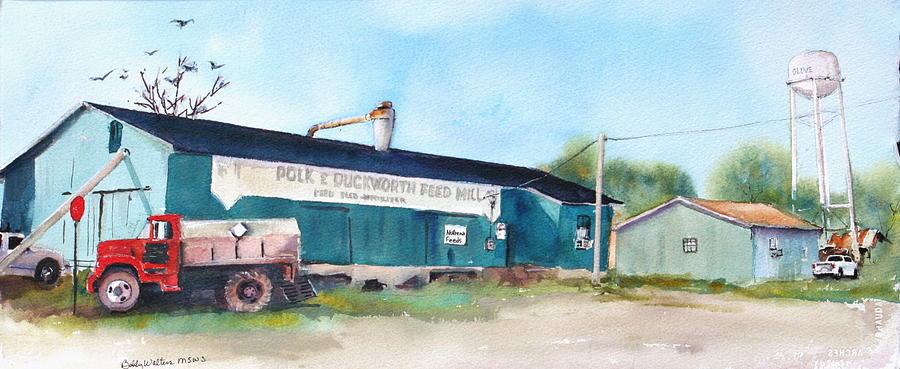 Old Feed Mill Painting - Feed And Seed by Bobby Walters