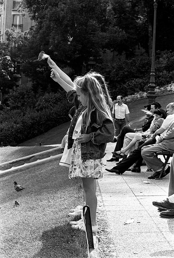 France Photograph - Feeding The Birds by Gerry Walden
