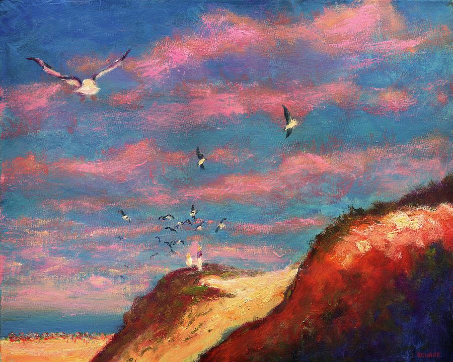 Feeding the Gulls Near the Gulf by Vernon Reinike