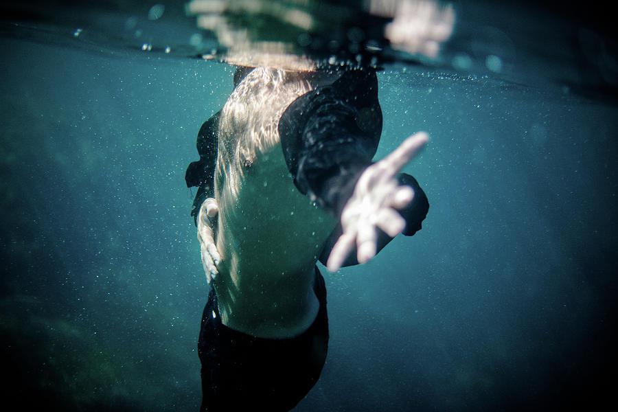 Swim Photograph - Feel II by Gemma Silvestre