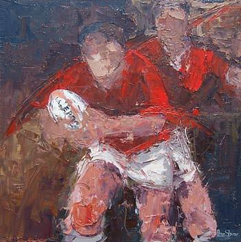 Rugby Prints Painting - Feel The Passion Return Journey Ltd Edition Canvas Rugby  Prints Collection  by Rugby Arts  large print