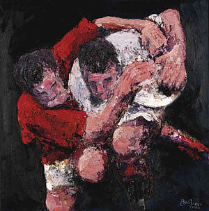 Feel The Passion The Force Ltd Edition Canvas Print Collection Painting by Rugby Artslarge print