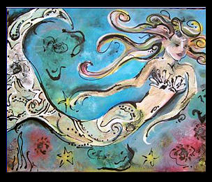 Mermaid Painting - Feelin Craby by Amanda  Sanford