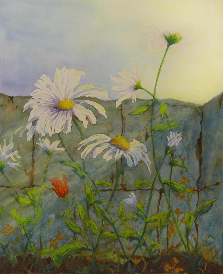 Decor Painting - Feelin Like a Different Daisy by Lisa Gibson Art