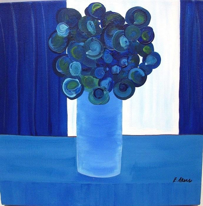 Blue Painting - Feeling Blue by Edmund Akers
