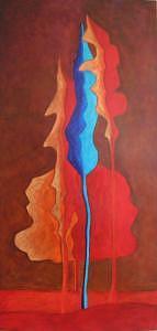 Blue Painting - Feeling Blue I by Lili Vanderlaan