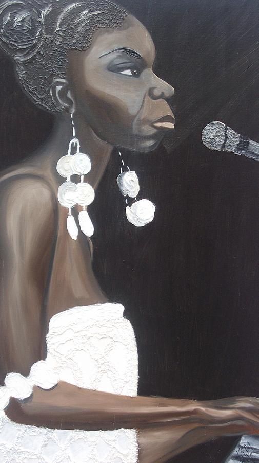 Nina Simone Painting - Feeling Good by Kimberly Eide