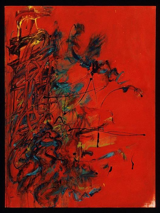 Abstract Painting Painting - Feeling Red by Sheila Hecht