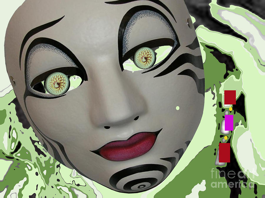 Feeling Slightly Greenish Today Digital Art by Tammera Malicki-wong