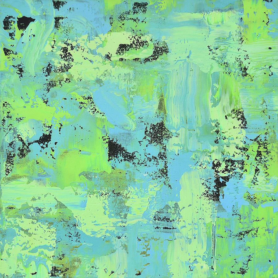 Abstract Painting - Feeling Springy by Alice Lipping