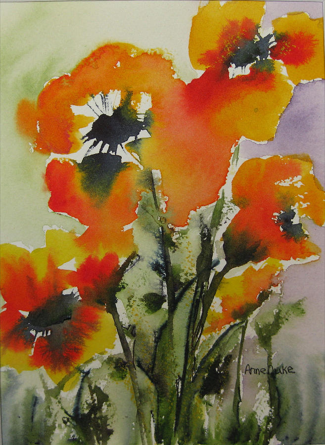 Flowers Painting - Felicity by Anne Duke