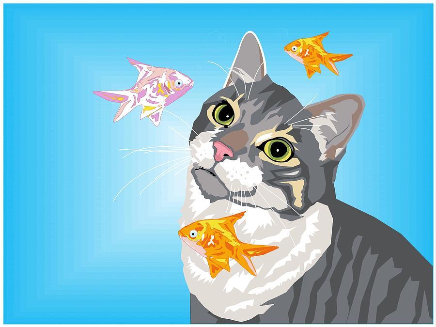 Cat Digital Art - Feline Fantasy by Sarah Crumpler