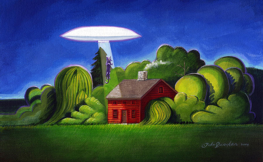 Feline UFO Abduction by John Deecken