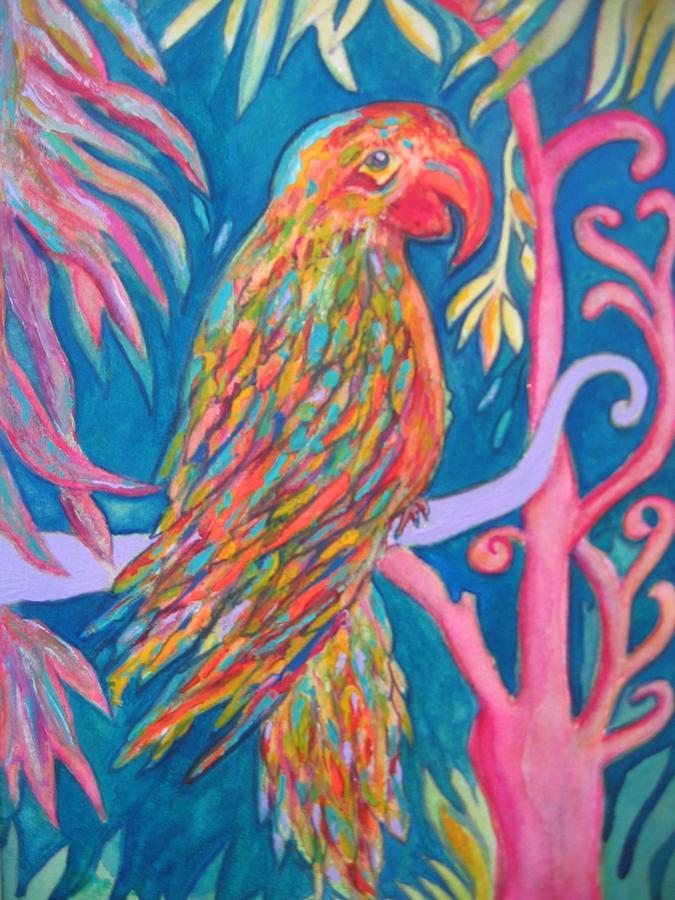 Parrot Painting - Felipe by Marlene Robbins
