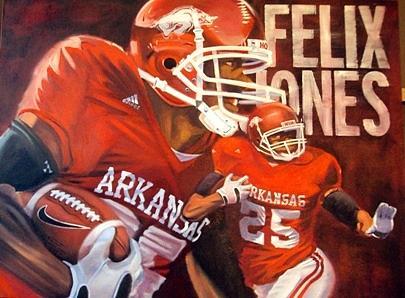 Felix Jones Painting - Felix Jones by Jim Wetherington