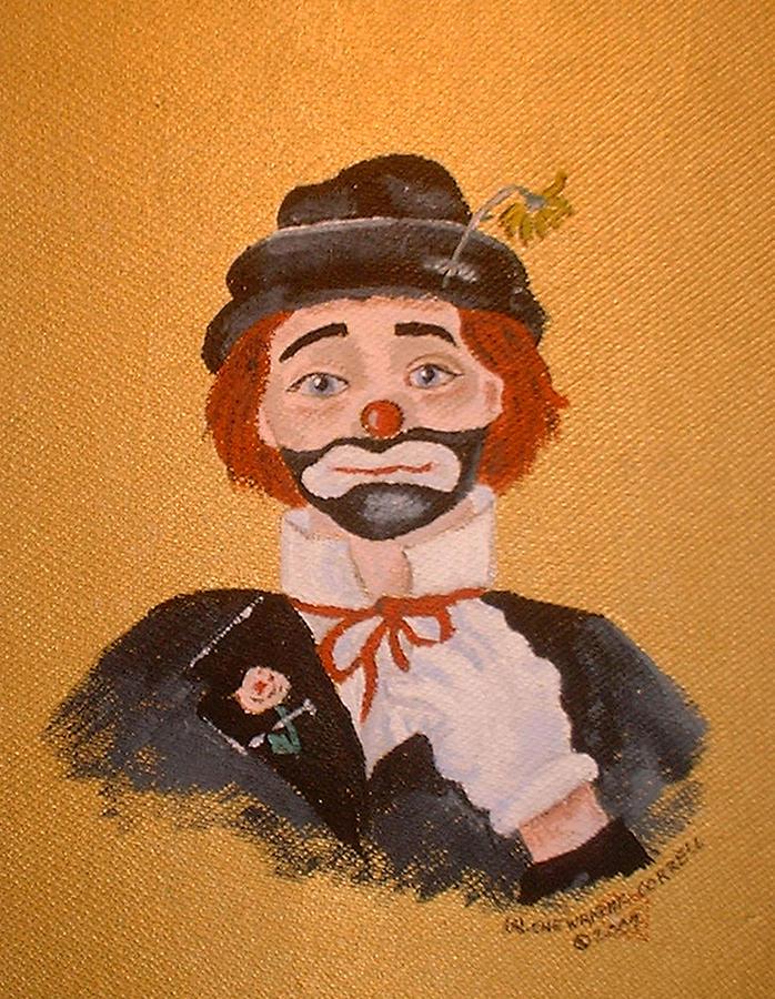 Felix The Clown Painting - Felix The Clown by Arlene  Wright-Correll