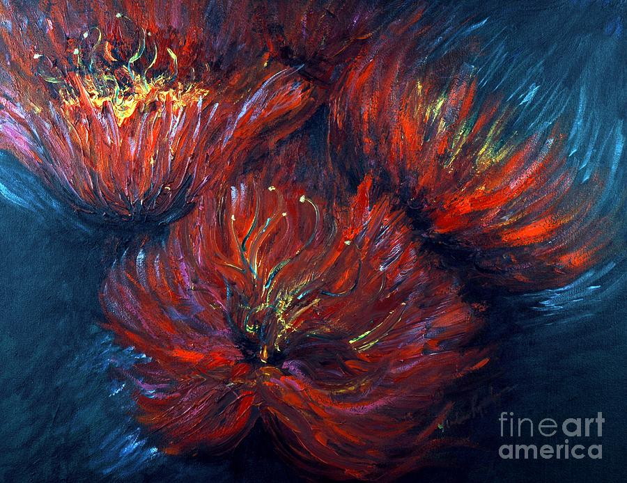 Abstract Painting - Fellowship by Nadine Rippelmeyer