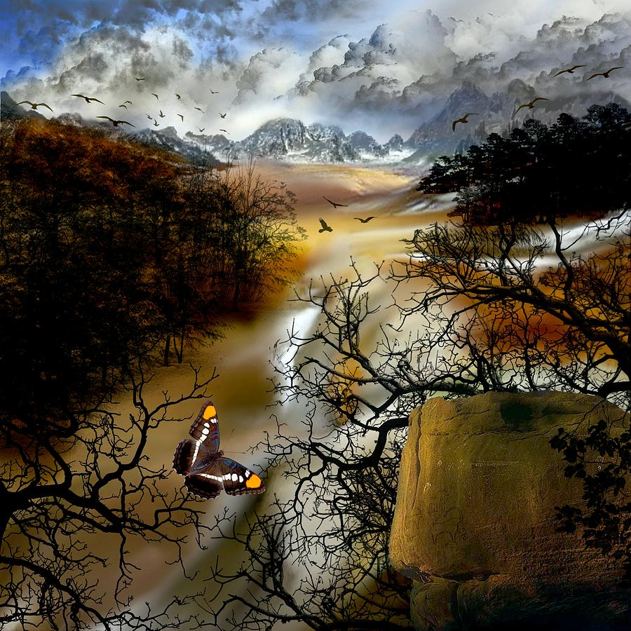 Landscape Digital Art - Fells Valley by Deborah Holland