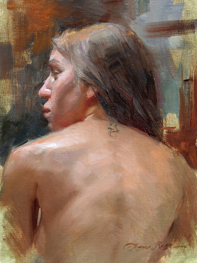 Back Painting - Female Back Study by Anna Rose Bain