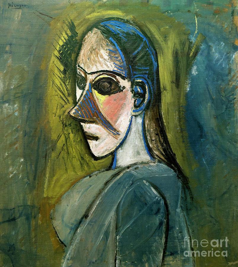 Female Bust, Buste De Femme, By Pablo Picasso, 1907, Centre Pomp ...