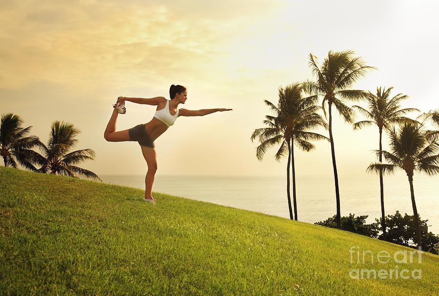 Athlete Photograph - Female Doing Yoga by Brandon Tabiolo - Printscapes