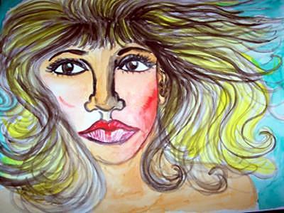 Female Face Painting - Female Face by Caroline Lifshey