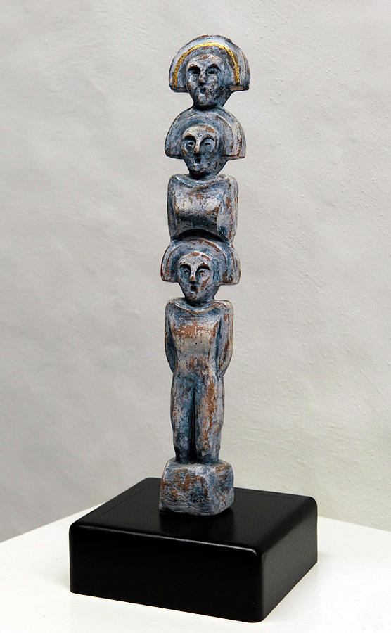 Matrons Sculpture - Female Figurine - Goddess Worship - Matronen - Matrone - Matrones - Matron - Nettersheim Eifel  by Urft Valley Art