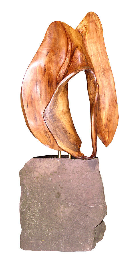 Drift Wood Sculpture - Female by Kenneth-Edward Swinscoe