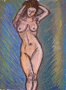 Nude Drawing - Female Nude A by Caroline Lifshey
