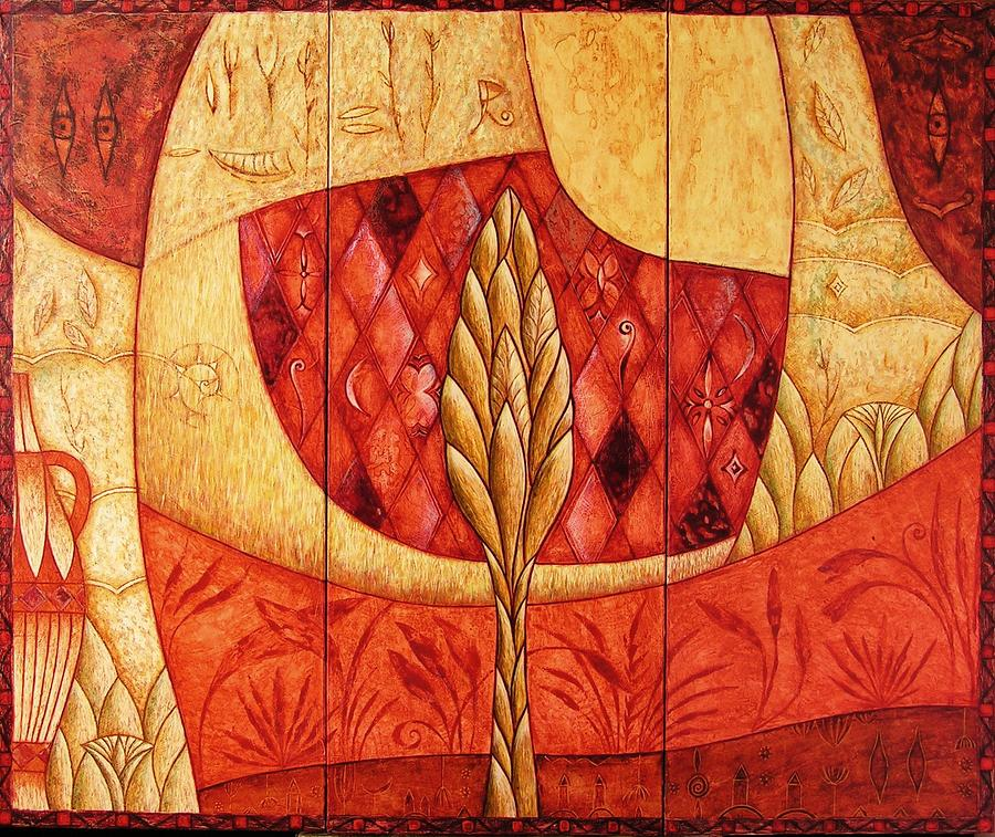 Symbolic Painting - Femaleflores by Kasia Blekiewicz