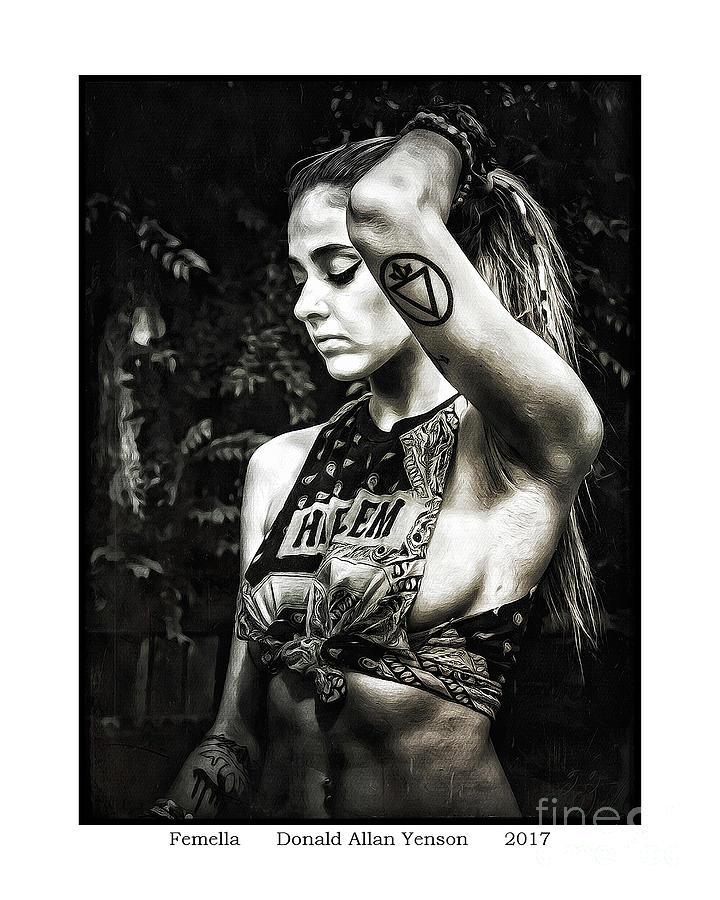 Girl Photograph - Femella by Donald Yenson